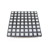 60mm Square 8x8 LED Matrix - RGB - Square Dot