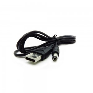 USB Cable Type A to 5.5mm Barrel Jack Adapter