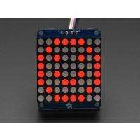 """Adafruit Small 1.2"""" 8x8 LED Matrix w/I2C Backpack - Red"""