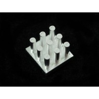 "Aluminum SMT Heat Sink - 0.4""x0.4"" square"